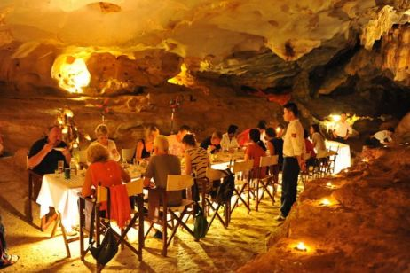 Dining in a cave
