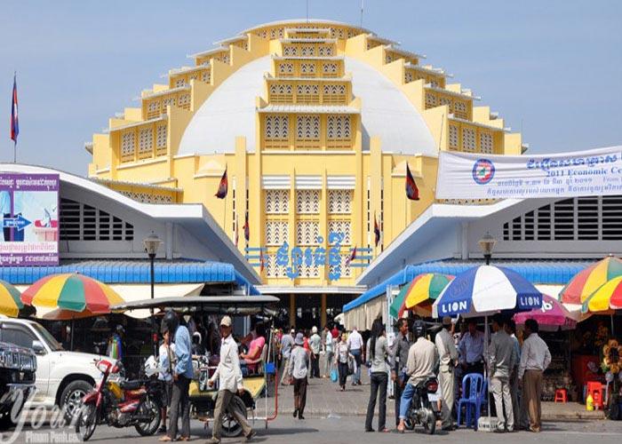 Central market in Cambodia
