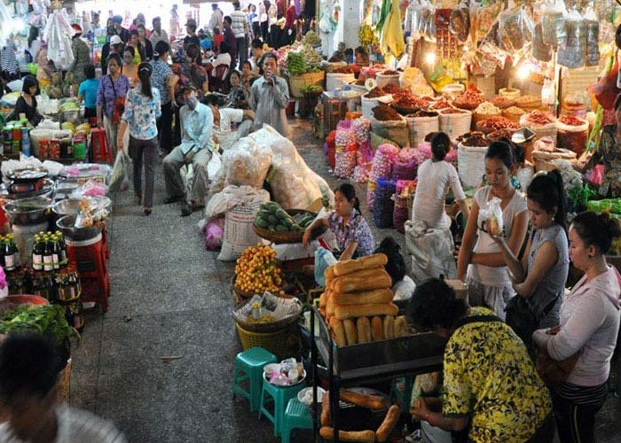 Olympic market in Phnom Penh