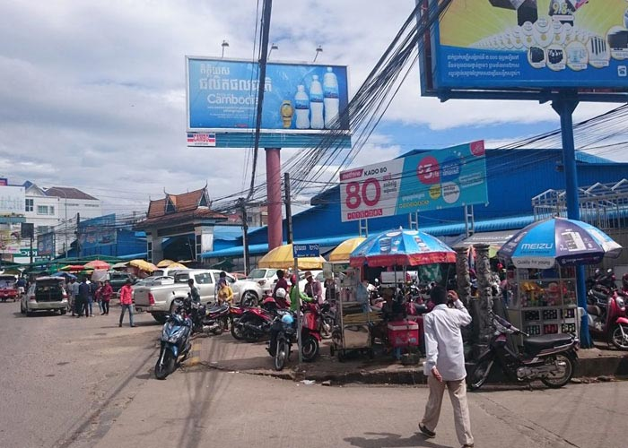 Sihanouk Ville market in Cambodia