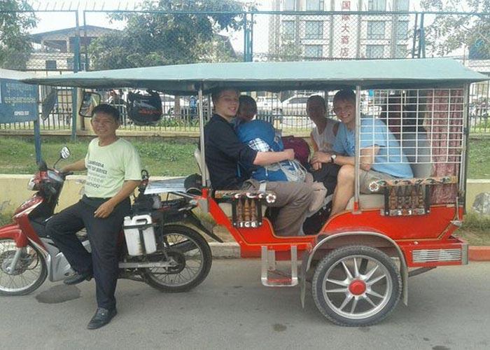 Tuk-tuks - a popular transport in Cambodia