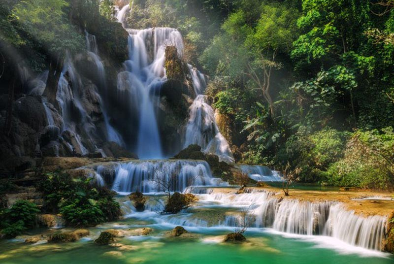 Visit Kuangsi Waterfall