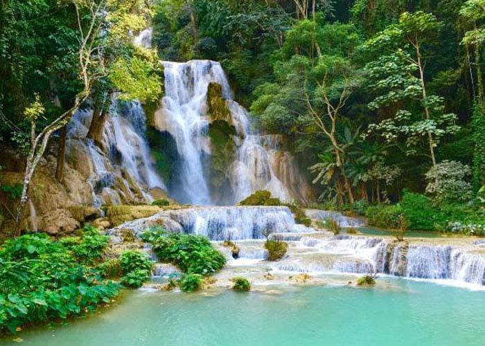 Visit the Kuangsi Waterfalls