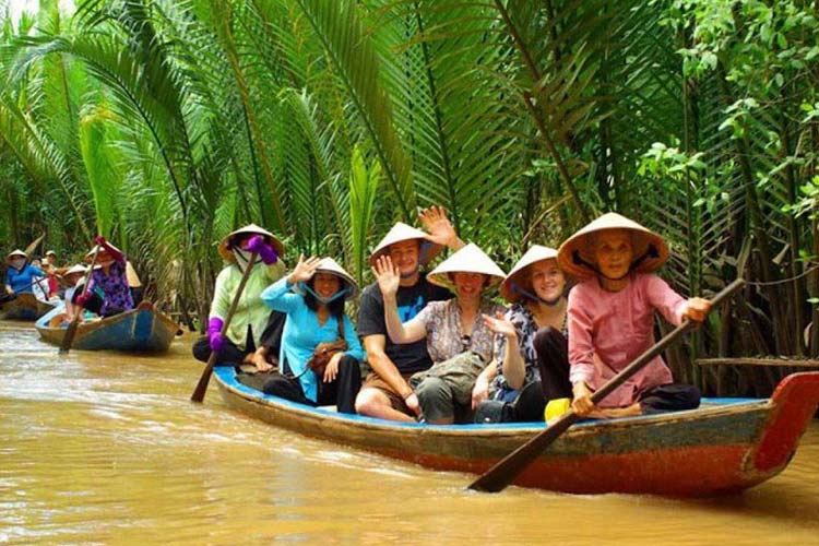 Wearing normal clothes in Mekong Delta