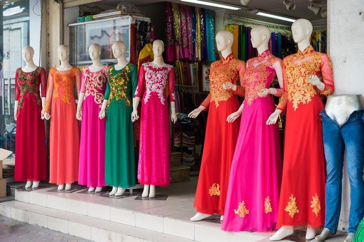 Silk product in Hanoi