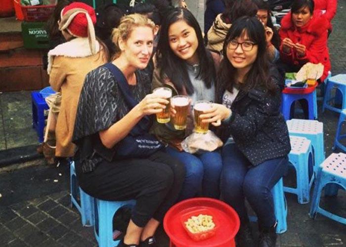 Drink local beer in Hanoi