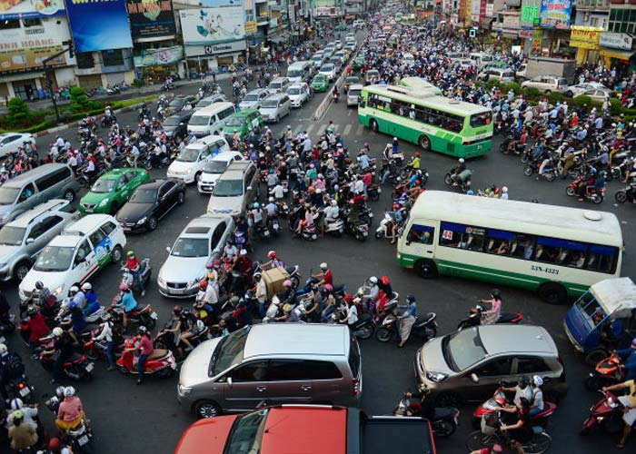 Marvel at the Madness of Traffic In Vietnam