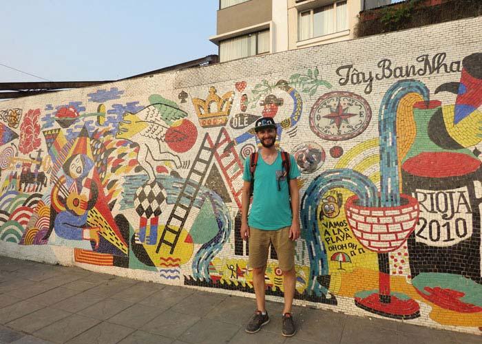 Mosaic Wall in Hanoi
