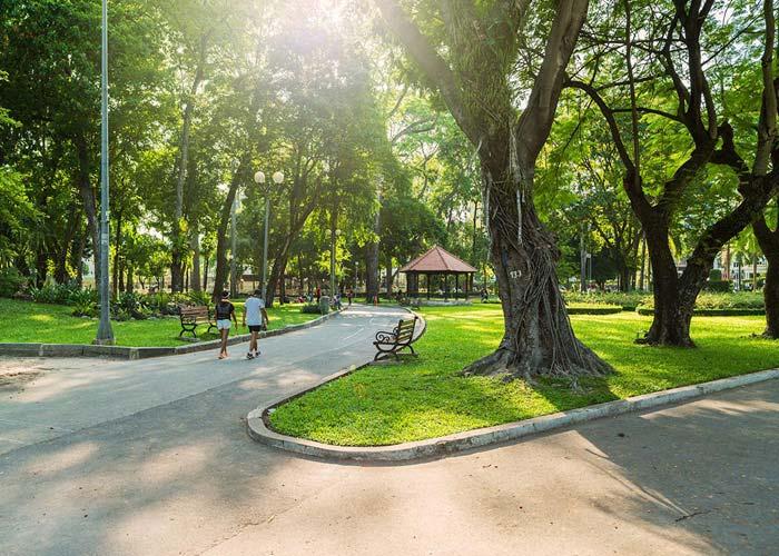 Tao Dan Park in Ho Chi Minh