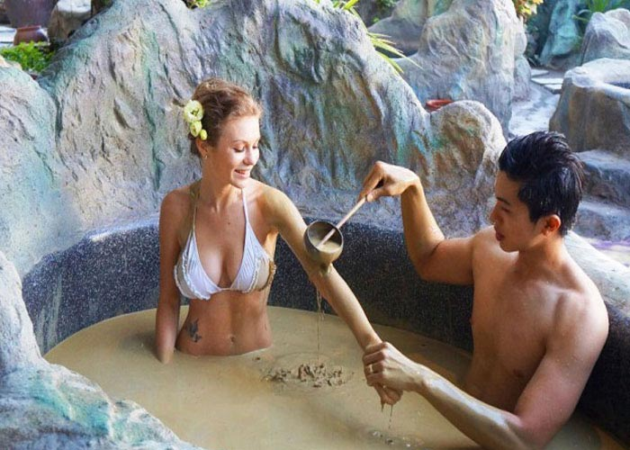 Enjoy mud bath at Thap Ba Hot Springs